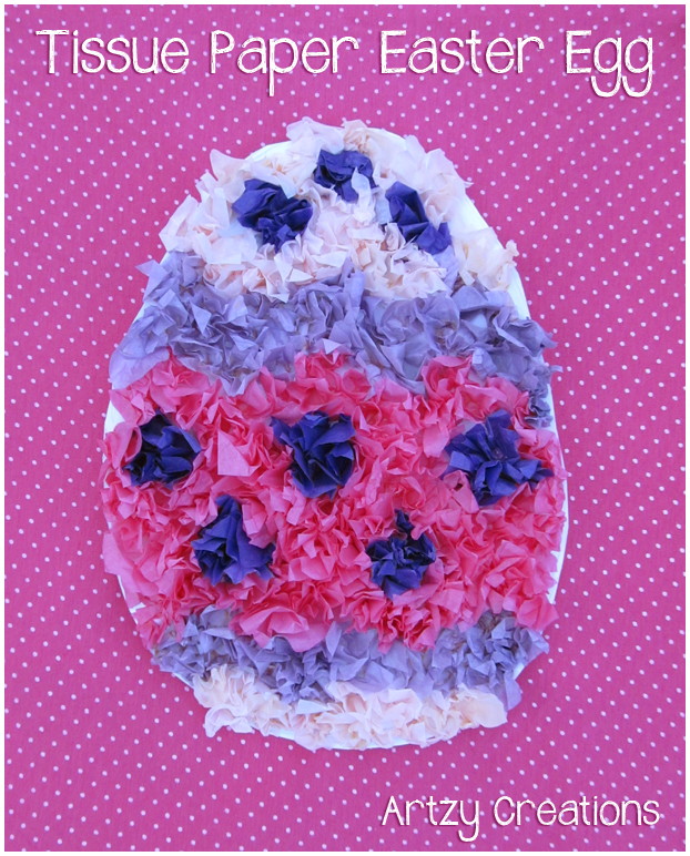 Tissue Paper Easter Egg Artzycreations