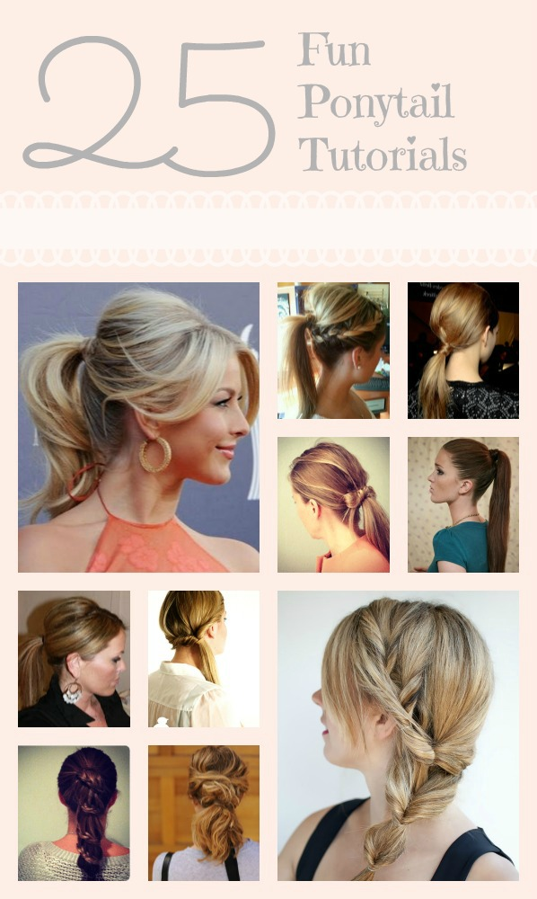 25 great ponytail tutorials