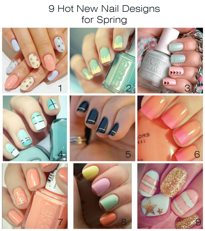 9 Hot New Nail Designs For Spring - artzycreations.com
