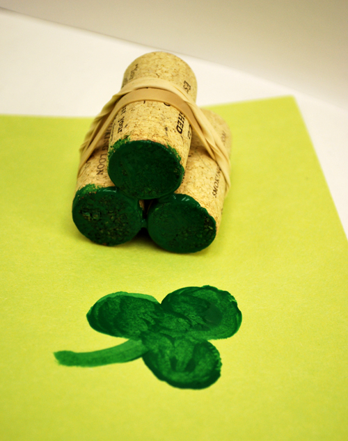 Apple Shamrock Stamp Craft