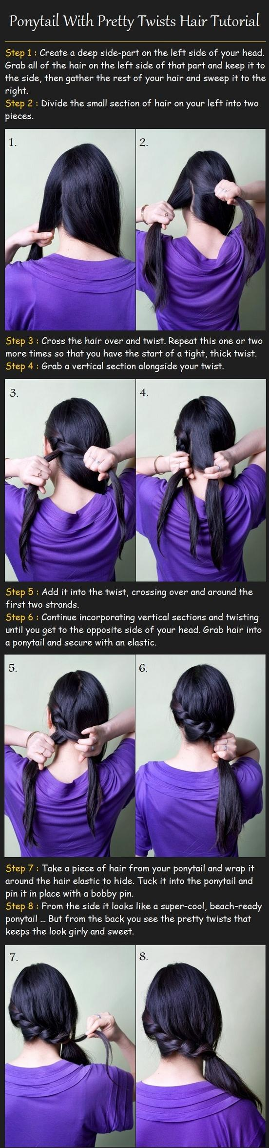 Ponytail-With-Twists-Hair-Tutorial