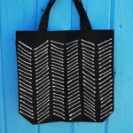 Chevron Stripe Canvas Tote Bag