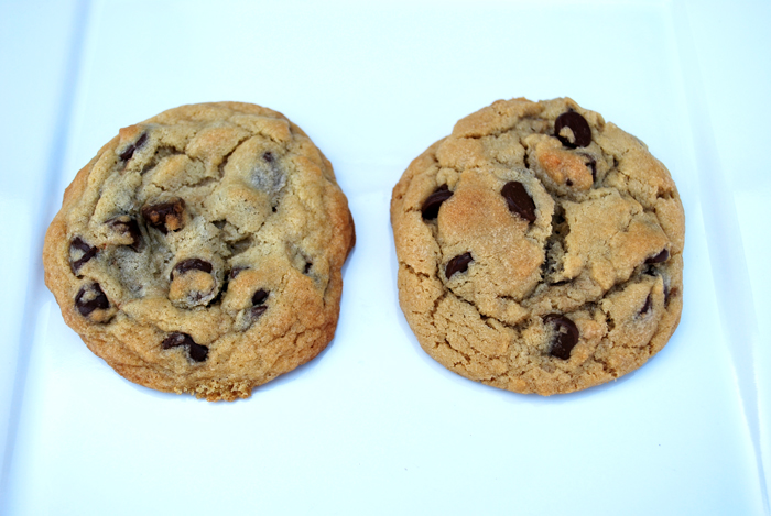 side by side cookies