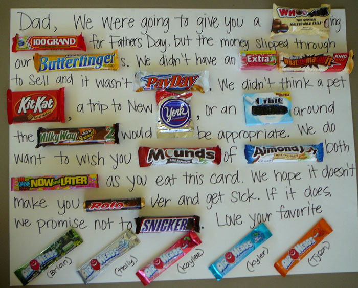Father's Day Candy Card Ideas