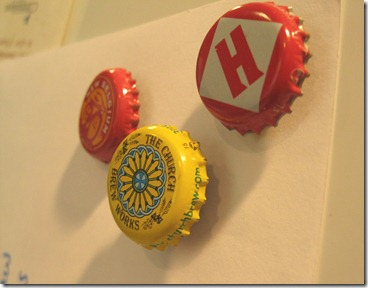 bottle cap magnets. upcycled beer bottle tops (2)_thumb[1]