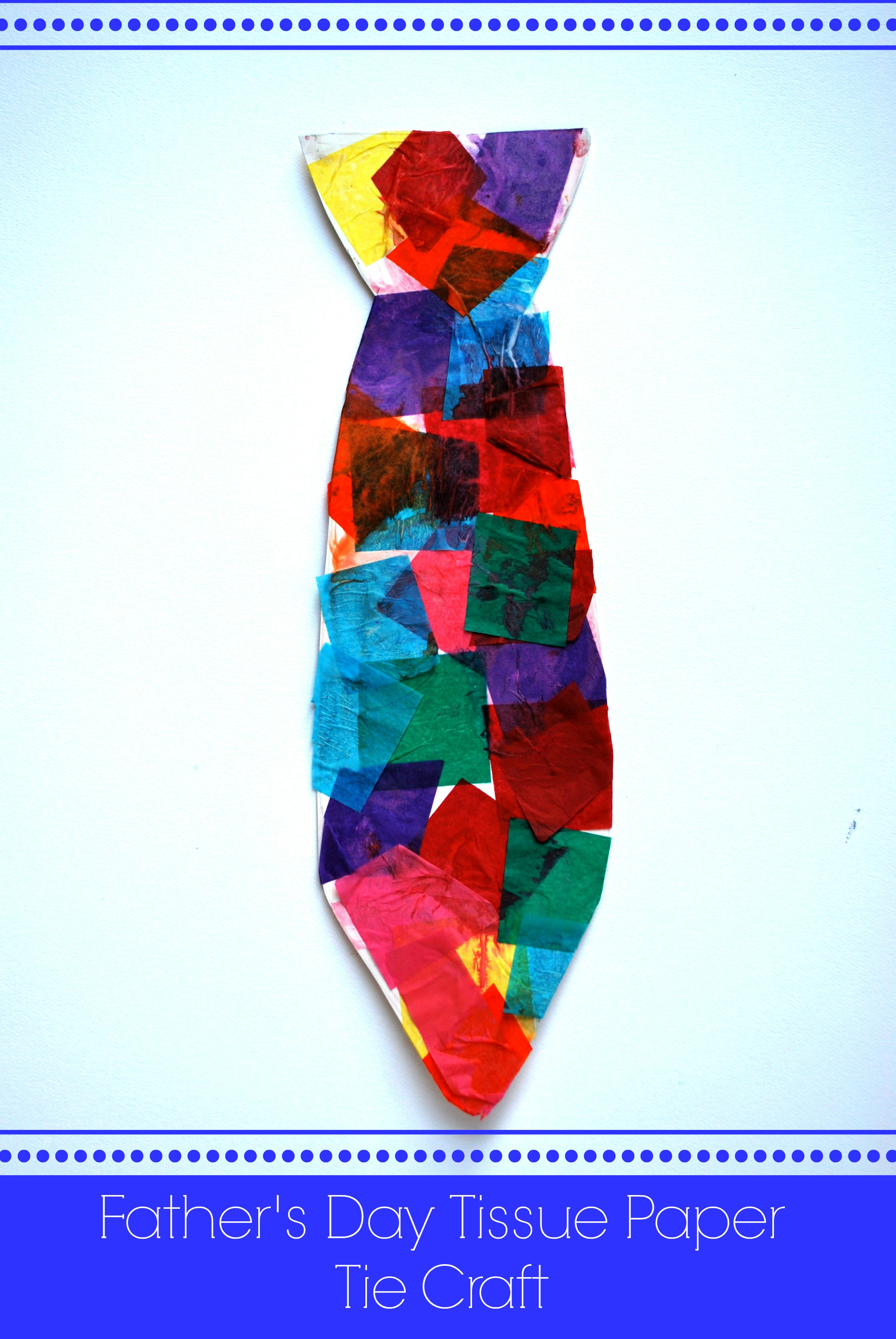 Father s day tissue paper tie craft artzycreations