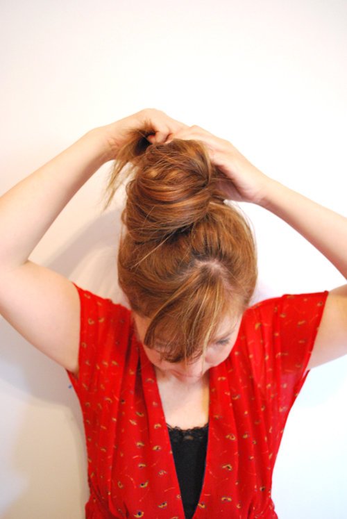 wrapping top knot