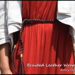 Braided Leather Wrap Belt