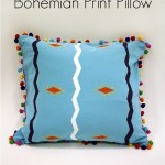 Bohemian Print Pillow w/ Custom Print Fabric