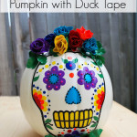 Day of the Dead Pumpkin with Duck Tape