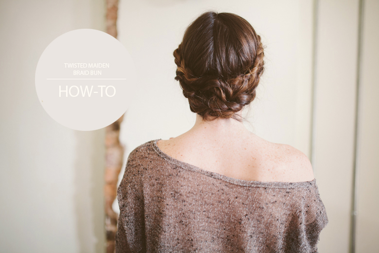 knotted bun maiden braid hair tutorial-2