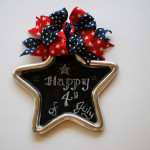 4th of July Chalkboard Wreath