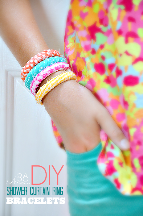 11 diy shower curtain ring bracelets by 36th ave