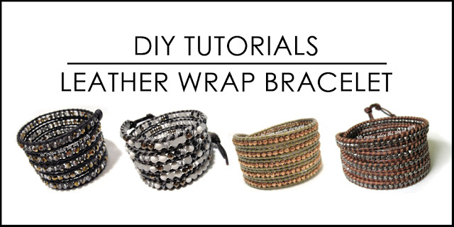 22.) DIY Leather Wrap Bracelet by Ice Cream When The Sky Is Gray .