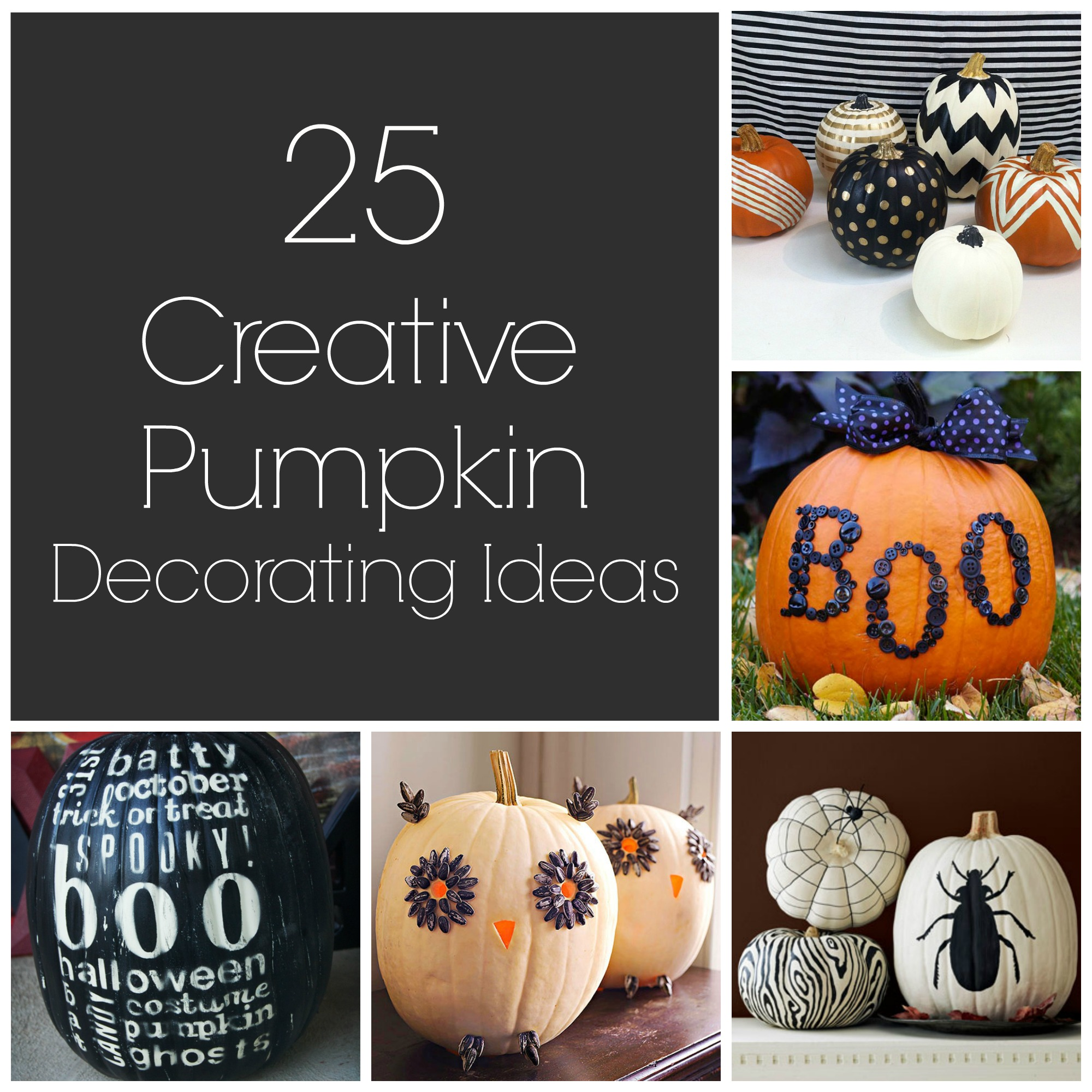 25 Creative Pumpkin Decorating Ideas - artzycreations.com