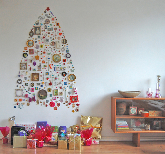 Cool Christmas Wall Decor : Creative and unique christmas trees artzycreations
