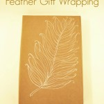 DIY Feather Gift Wrap