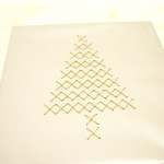 Cross Stitch Christmas Tree Gift Wrap