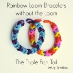 Triple Fish Tail Bracelet Using 2 Pencils