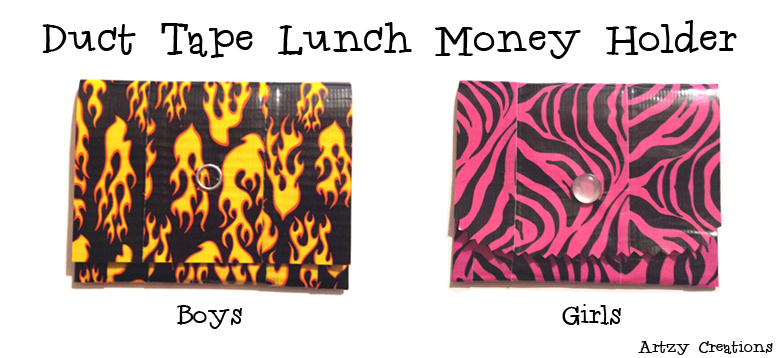 D uct Tape Lunch Money Holder
