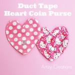 Duck Tape Heart Coin Purse