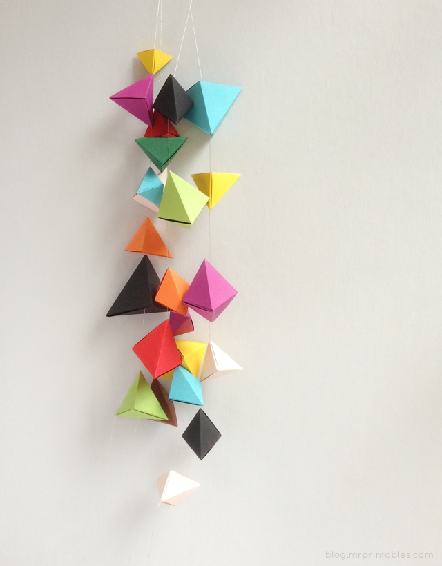 5 friday fabulous pinterest finds for Origami decorations for your room