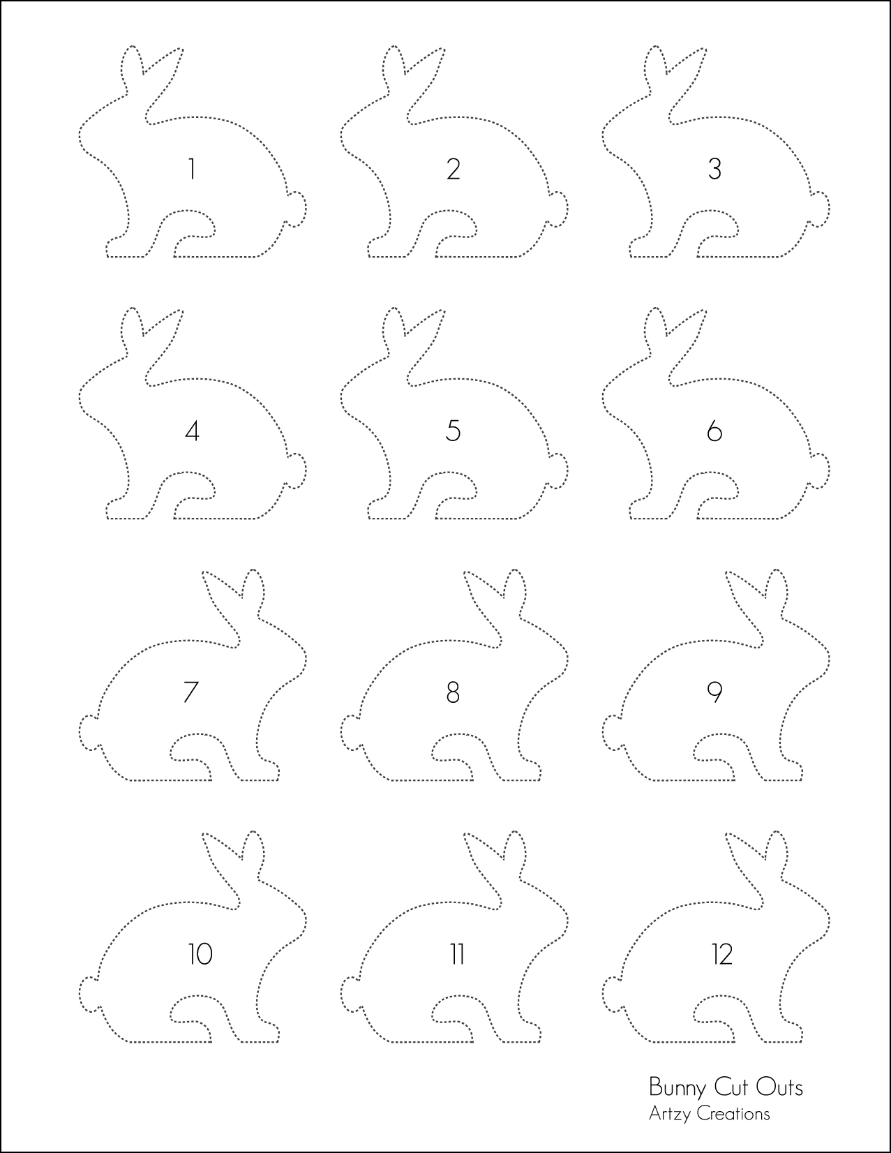 Bunny mason gift jars with printables artzycreations bunny cut out template for download here pronofoot35fo Images