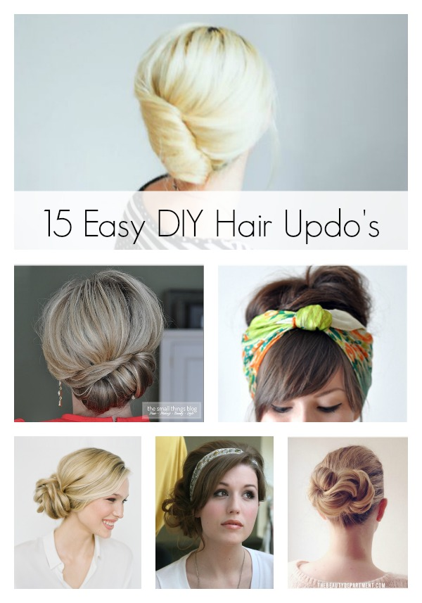 15 Easy Diy Hair Updos Artzycreations