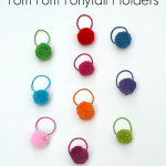 Pom Pom Ponytail Holders