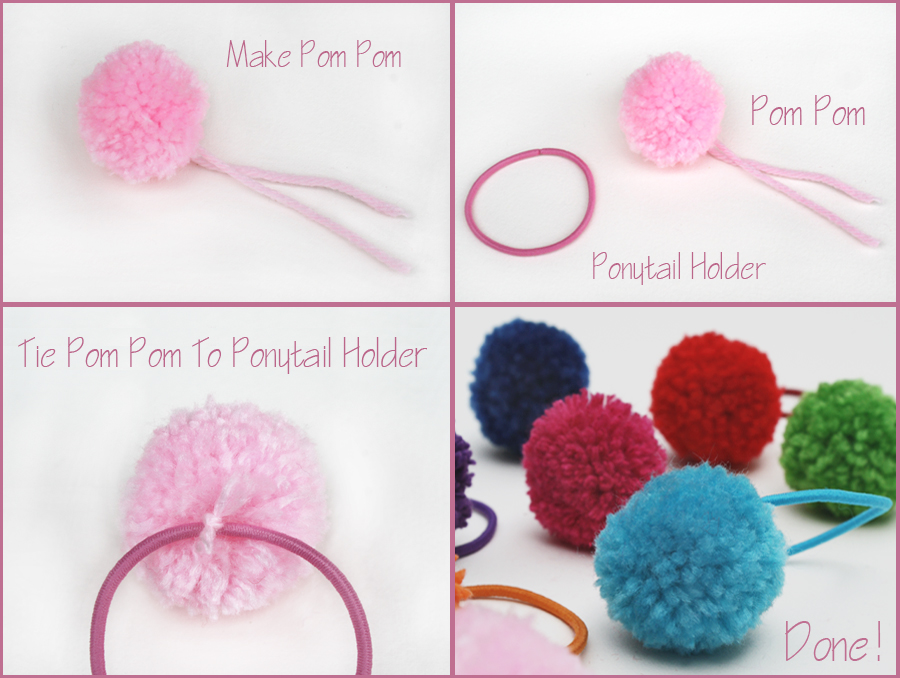 Pom Pom Poytail Holder_How to