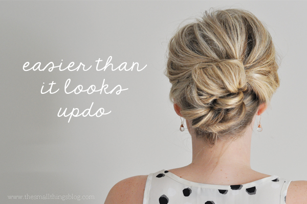 15 easy diy hair updos artzycreations easier than what it looks updo by the small things blog solutioingenieria Gallery
