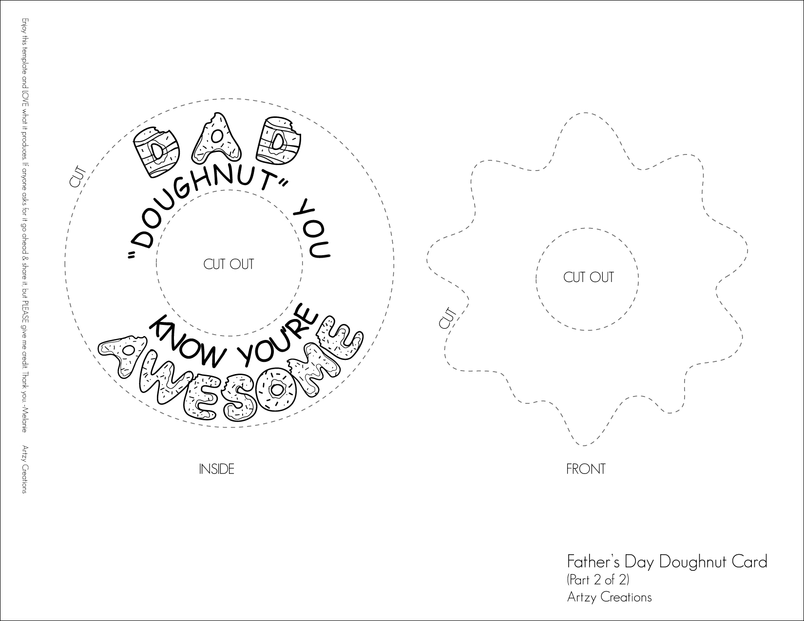 father s day doughnut card