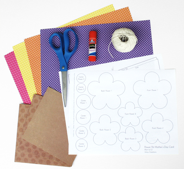 Flower Pot Card_Materials