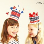 DIY Soda Bottle 4th of July Crowns