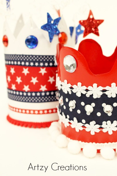 Artzy Creations_4th of July Crowns Close Up