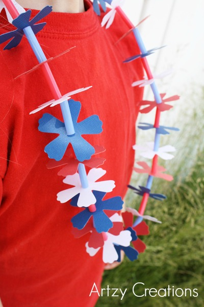 Artzy Creations_4th of July Lei with Lily