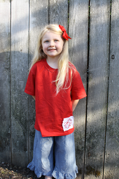 Artzy Creations_Applique T-Shirt with lily