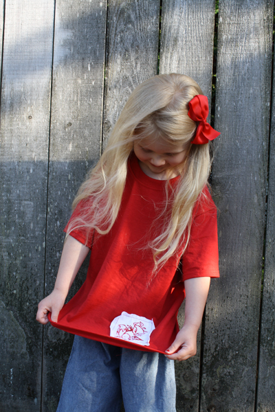 Artzy Creations_Applique T-Shirt with lily2