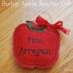 Burlap Apple Teacher Gift