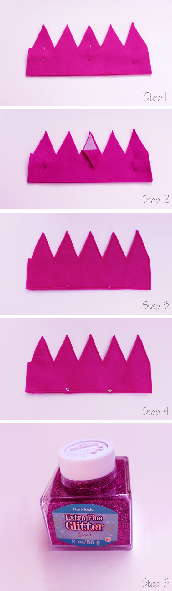 Artzy Creations_Fun Felt Party Crown_Steps