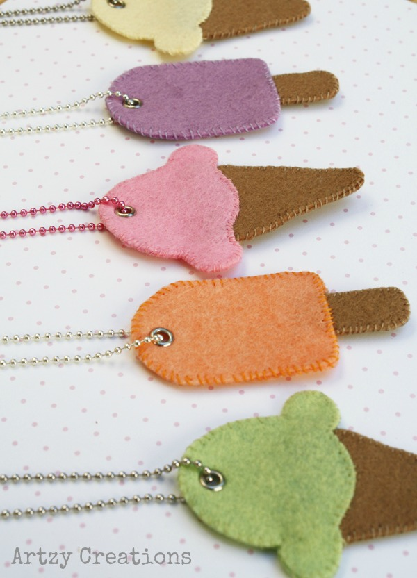 Ice Cream Necklace From Artzy Creations