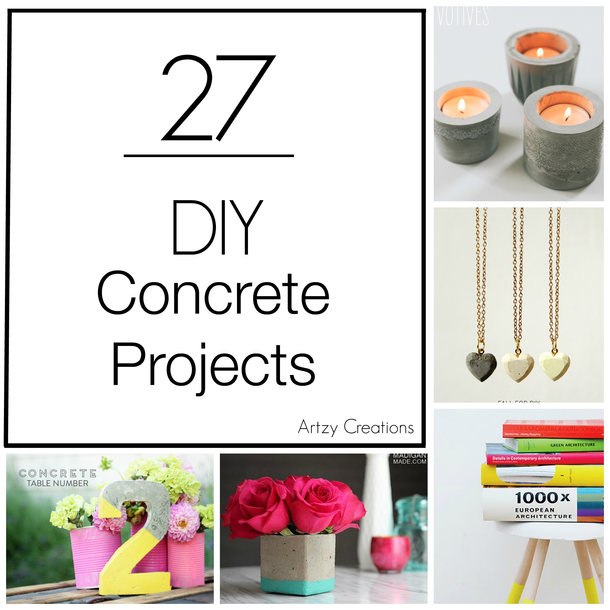 Artzy Creations_27 DIY Concrete Projects