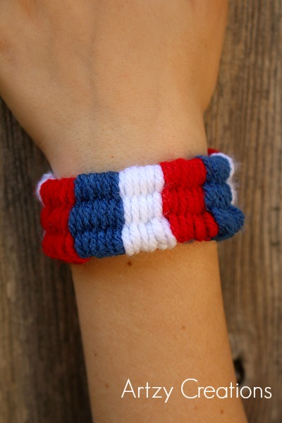 artzy creations fourth of july woven bracelet