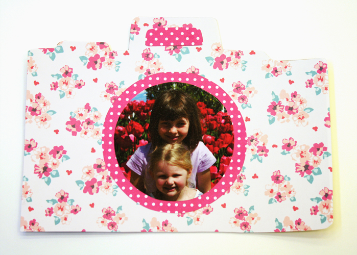 Artzy Creations Summer Memeory Cereal Box Camera_Mod Podge Photo