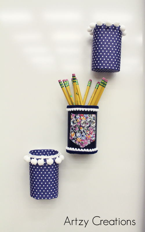 Artzy Creations_DIY Pencil Holder For Lockers 8