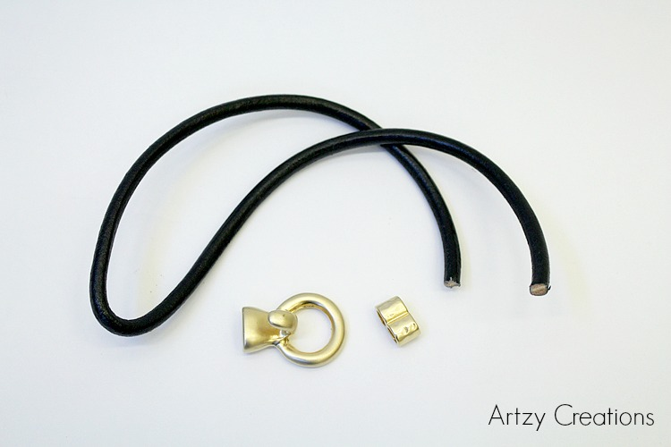 Artzy Creations_supplies for 5 minute leather bracelet 1