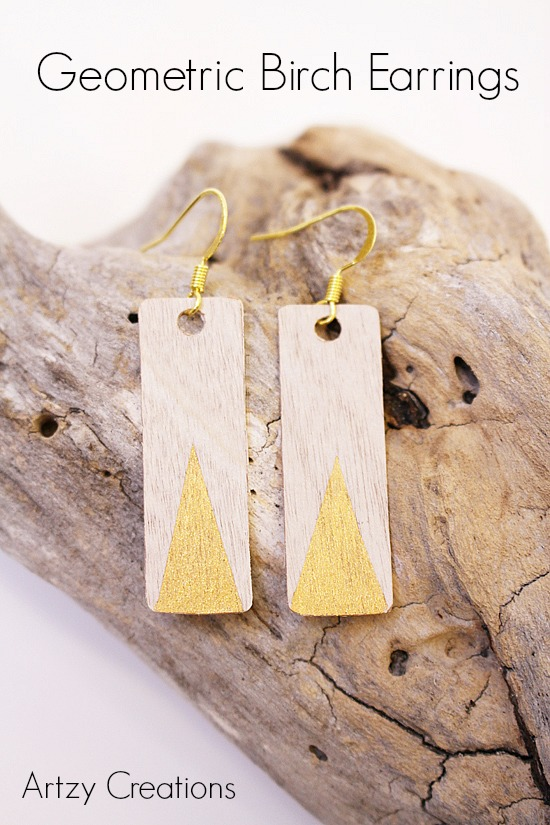 Artzy Creations_Geometric Birch Earrings Main 1
