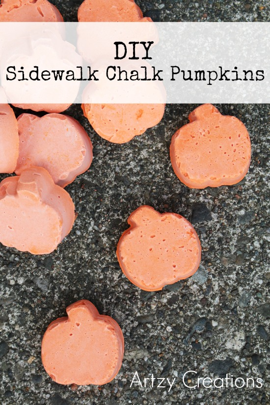 DIY Sidewalk Chalk Pumpkins