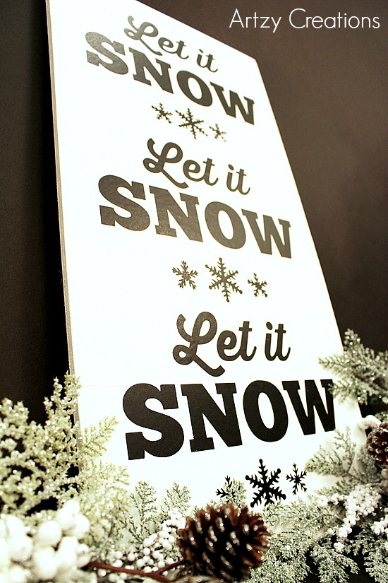 DIY-Let It Snow-Sign-2a