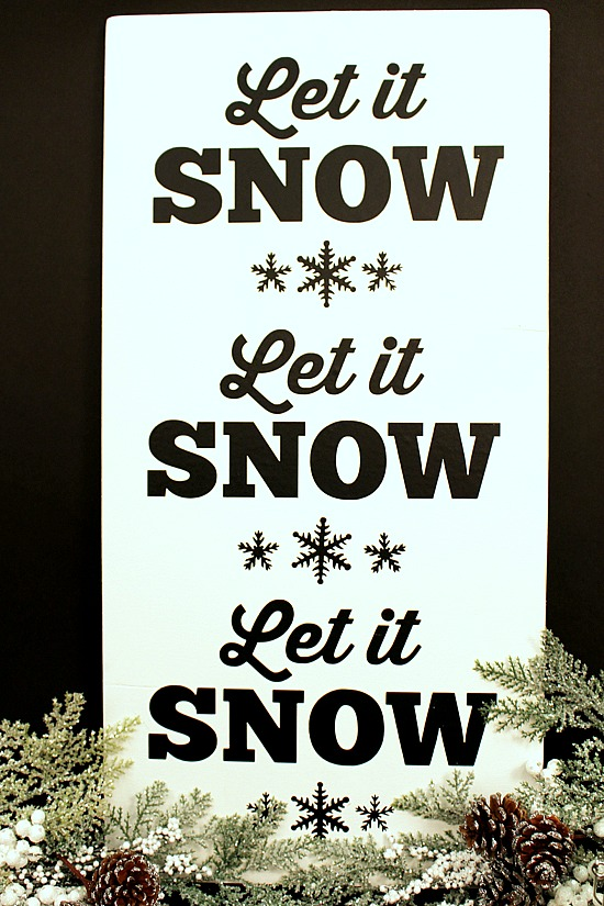 DIY-Let It Snow-Sign-3a